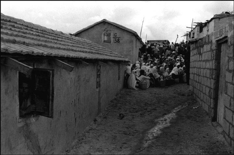 مخيّم للنازحين الفلسطينيين 1956