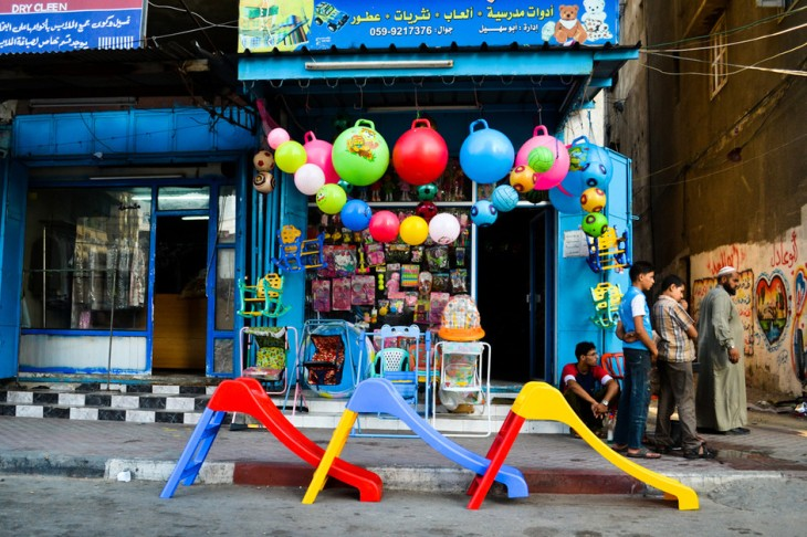A neighborhood toy store in Gaza City.
