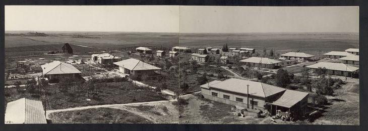 مستوطنة قرب الخط الشرقى لغزّة في الاربعينيات