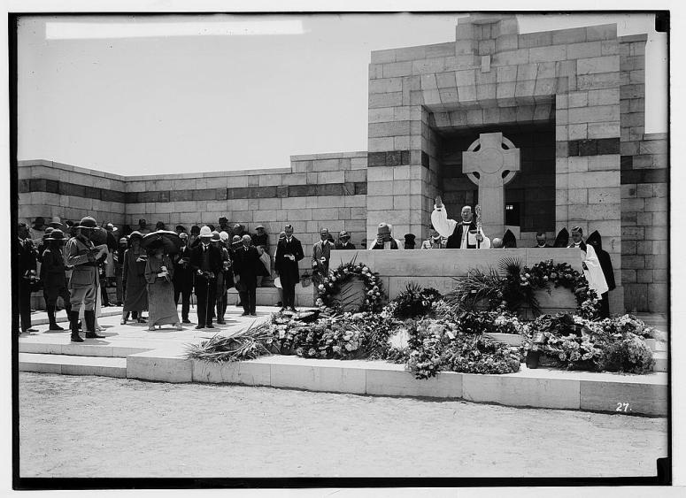 إفتتاح مقبرة الإنجليز شرق غزّة