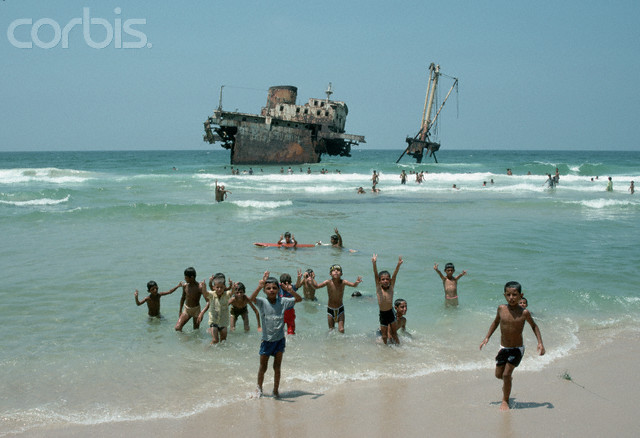 Young Palestinians on Beach