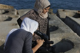 Shashat video training for young women in Gaza
